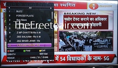 Zee Rajasthan News temp. free-to-air from SES 12 Satellite (Dish TV)