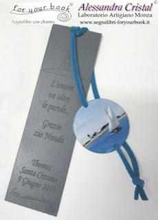 segnalibro elastico regalo padrino madrina cresima