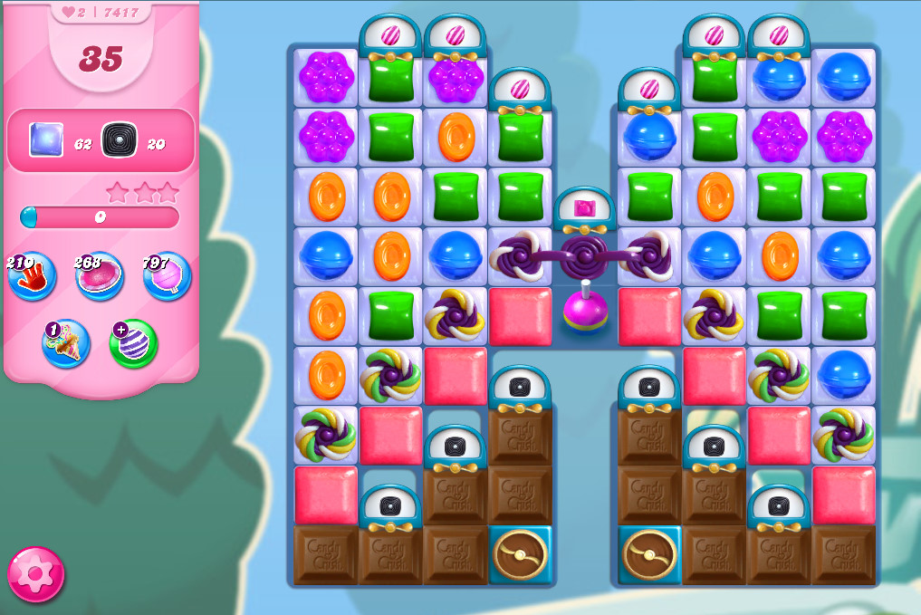Candy Crush Saga level 7417