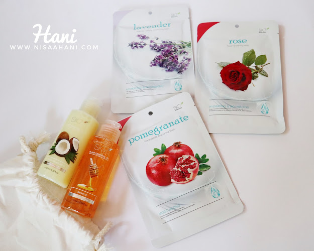 SK7 sheet mask and body wash