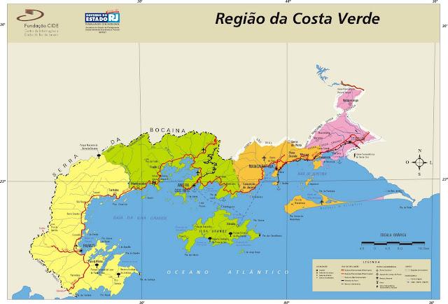 Mapa Região da Costa Verde - Rio de Janeiro