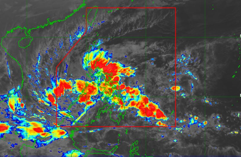 Satellite image of Tropical Depression 'Vicky'