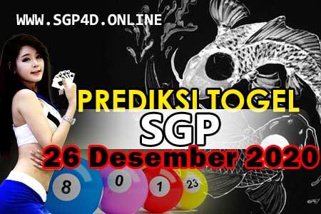 Prediksi Togel SGP 26 Desember 2020