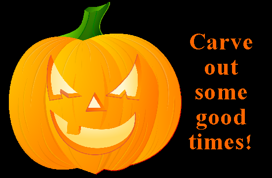 Halloween quote and pumpkin poster