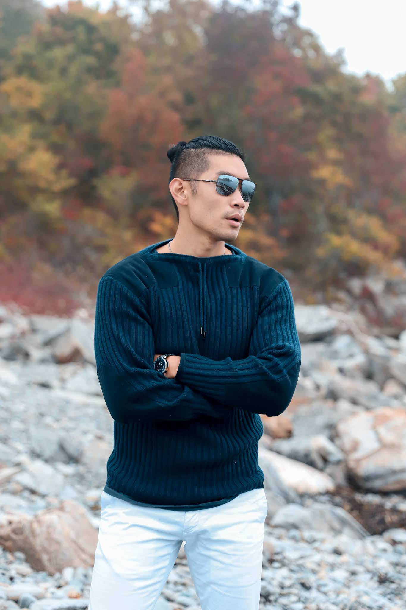 Fall Outfit Inspiration for Men 2020 | Leo Chan wearing NPeal James Bond NO TIME TO DIE Sweater