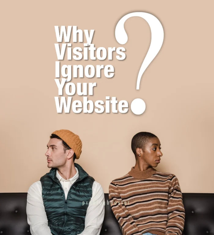 Why Visitors Ignore Your Website