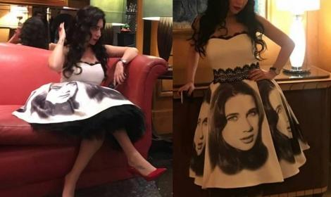 شاهدى : صور مي عز الدين بفستان مبهر