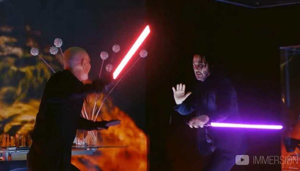 John Wick with Lightsabers :「スター・ウォーズ」の最新作「ザ・ライズ・オブ・ジョン・ウィック」のライトセーバーのバトルをお楽しみください ! !