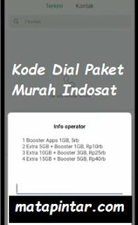 Kode Dial Paket Internet Murah Indosat Terbaru 2020
