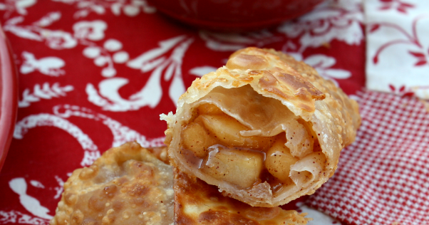 Apple Pie Egg Rolls W/Caramel Dipping Sauce