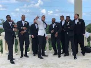 Jordan Takes Selfie With His Grooms Men