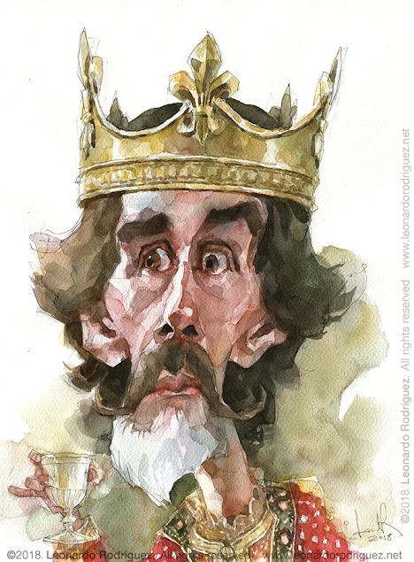 vikings-watercolor-caricatures-in-spain