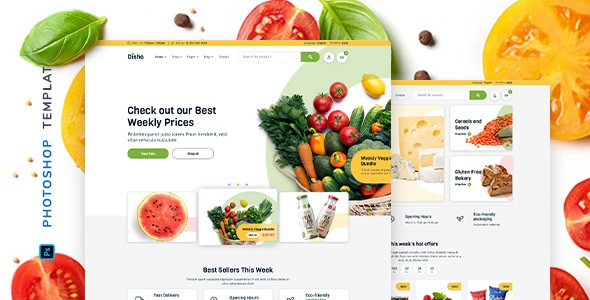 Best Grocery Store for Photoshop Template