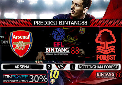 PREDIKSI SKOR ARSENAL VS NOTTINGHAM FOREST 25 SEPTEMBER 2019
