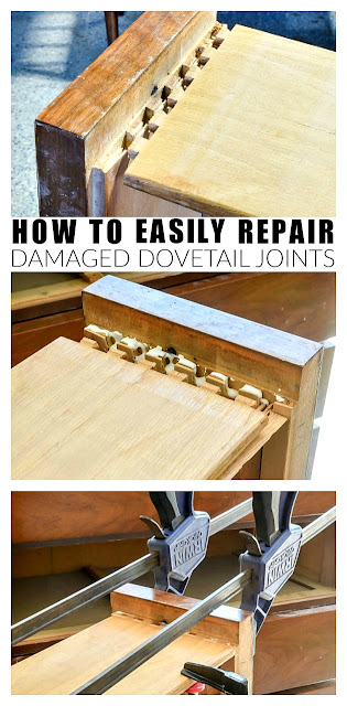 How to easily repair damaged dovetail joints