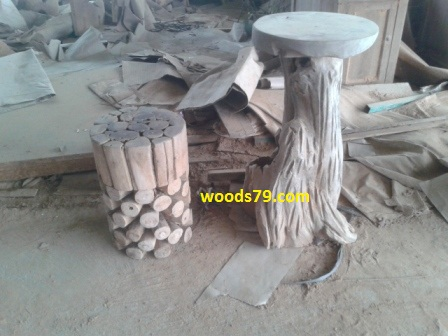Java Teak Root Wood Bar Stool