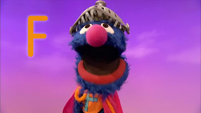 Super Grover letter F fly, Falling, Sesame Street Episode 4317 Figure It Out Baby Figure It Out season 43