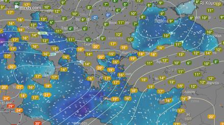 Βροχές και σποραδικές καταιγίδες κατά τόπους ισχυρές αύριο στα βόρεια τμήματα της χώρας - Αναλυτική πρόγνωση