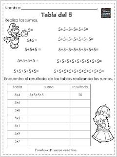 cuadernillo de tablas de multiplicar segunda edicion pdf