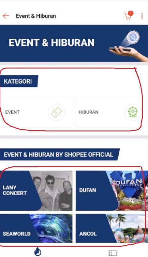 Manfaatkan Fitur Tiket Event di Shopee