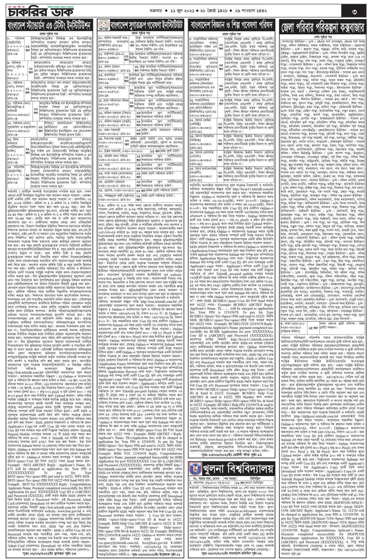 সাপ্তাহিক চাকরির খবর ১১ জুন ২০২১   Chakrir Khobor 11 June 2021