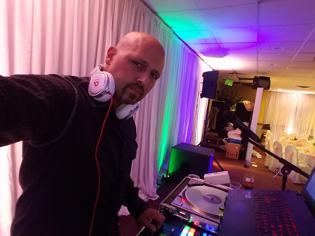 DJ Emir of Denver's Best DJs sporting His DJ set Up and Beats Pro By Dre Headphones At Kingsland Chinese Restaurant For a Vietnamese Wedding Reception