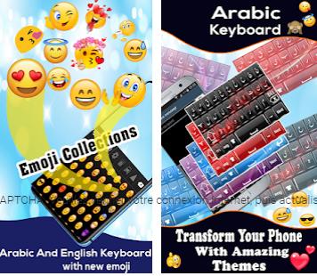 Clavier arabe:Langue du clavier vers l'anglais