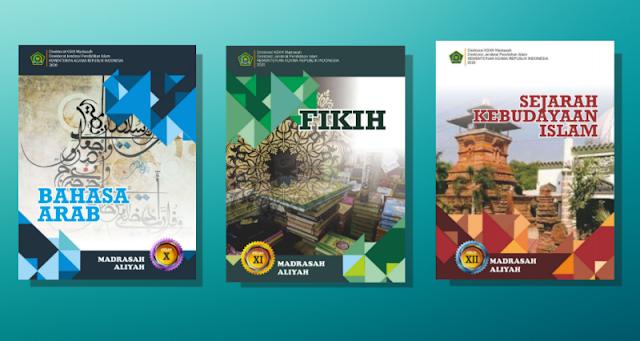 Buku PAI dan Bahasa Arab Kelas 10 11 dan 12 Madrasah Aliyah K13 Cetakan Tahun 2020