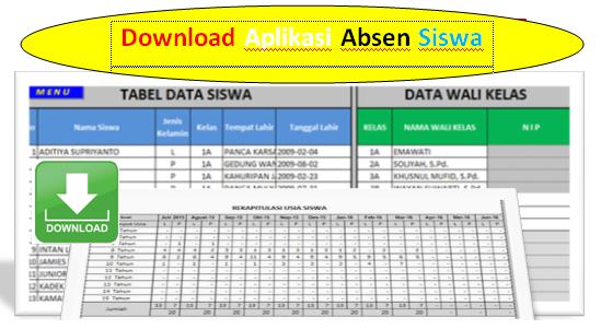 Download Aplikasi Absen Siswa Otomatis Lengkap Dengan Nilai Kehadirannya