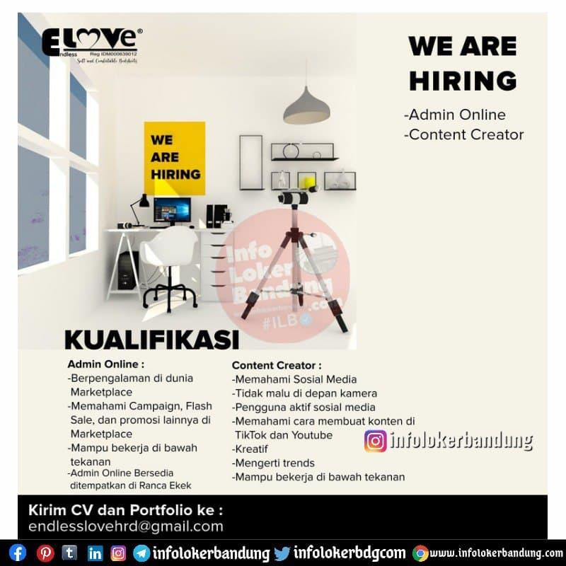 Lowongan Kerja Admin Online & Content Creator Endless Love Bedsheet Bandung April 2021