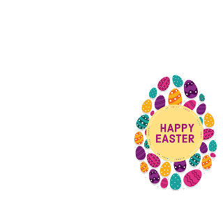 1/5 Designs of Easter eggs Facebook Frames Free Download