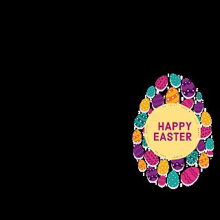 1/5 Designs of Easter eggs Facebook Frames Free Download