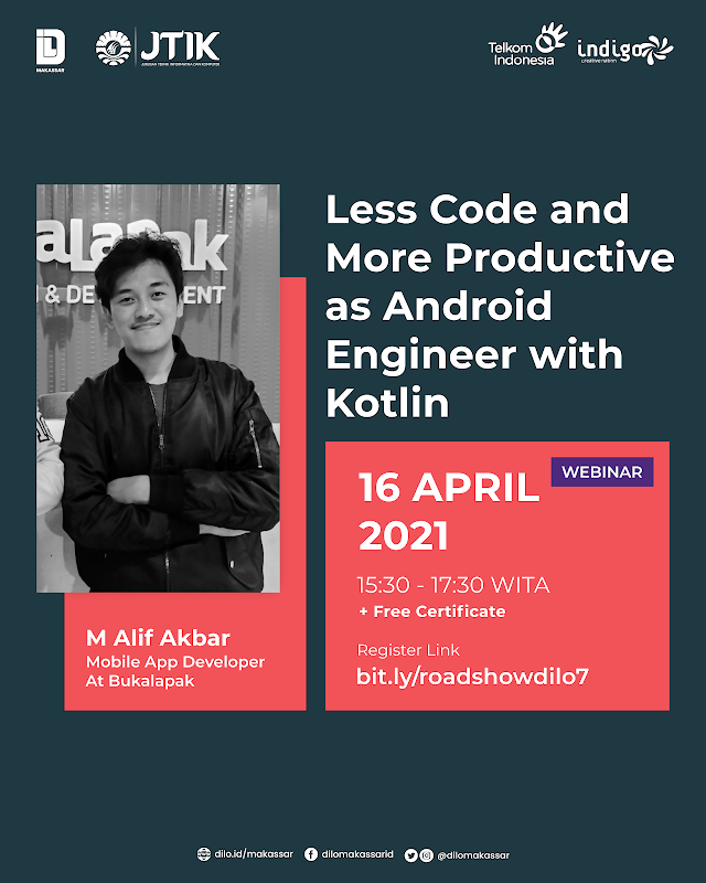 Webinar - Less Code and More Productive as Android Engineer with Kotlin