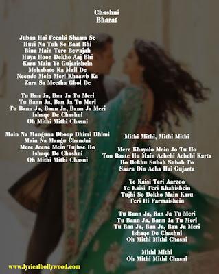 Chashni photo lyrics english
