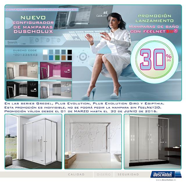 Descuento mamparas baño 30%