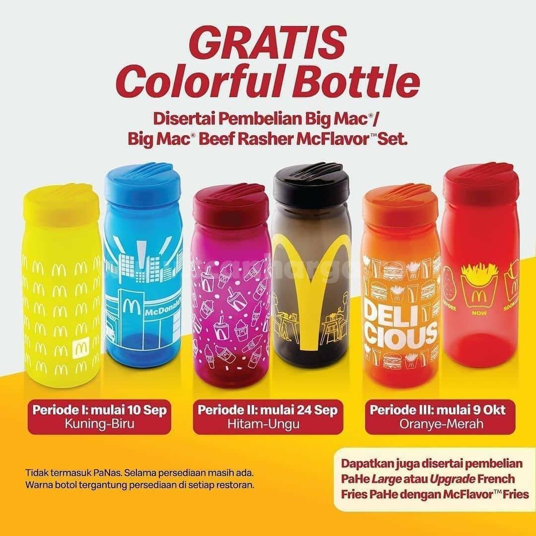 McDonalds Promo GRATIS Colorful Bottle dari McD