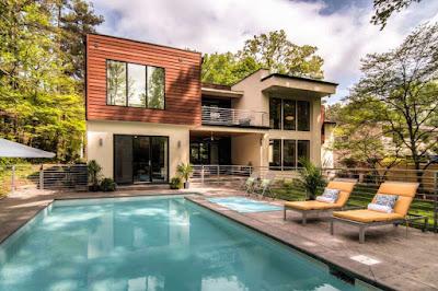 Gambar Desain Rumah Minimalis 2 Lantai Plus Kolam Renang