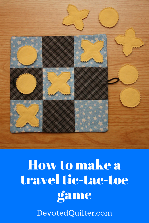 How to make a travel tic-tac-toe game | DevotedQuilter.com
