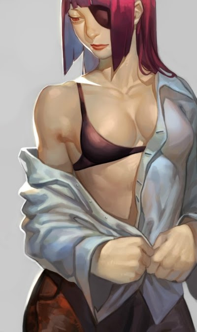 han juri taking off her clothes