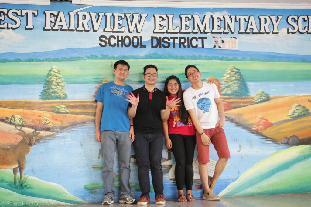 Renovate to Educate SGV volunteers in West Fairview Elementary School