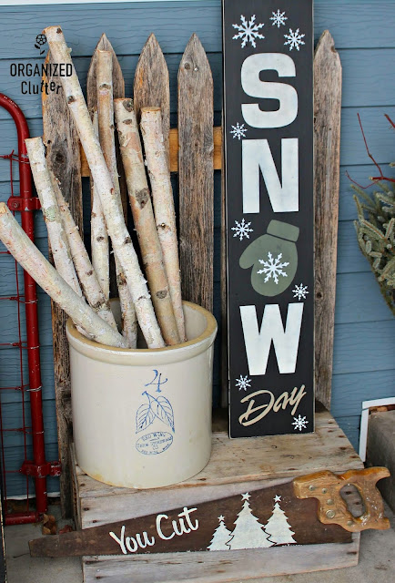 Make A Fun SNOW DAY Sign with Old Sign Stencils