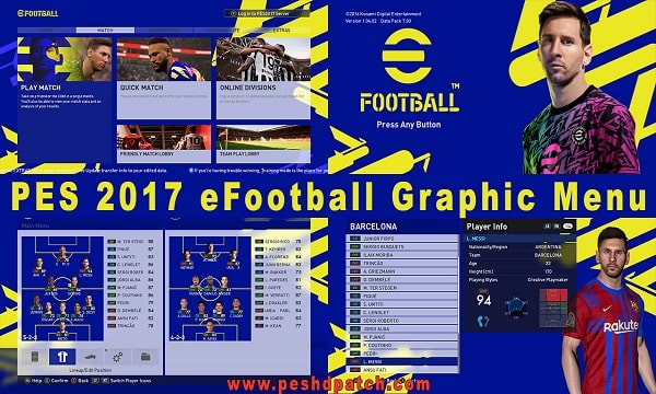 PES 2017 eFootball 2022 Graphic Menu By S17