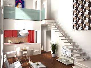 La casa in vetrina loft stile contemporaneo for Casa stile contemporaneo