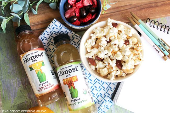 honest tea, popcorn, snack ideas, organic snacks, living better, fall snacks