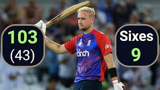 Liam Livingstone 42-ball Fastest T20I Hundred for England Highlights