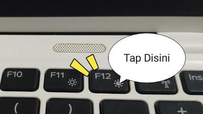 F12 Keyboard untuk Masuk ke Boot Menu