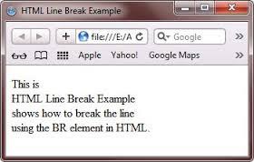 what is break <br> element