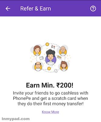 Phonepe invite & earn