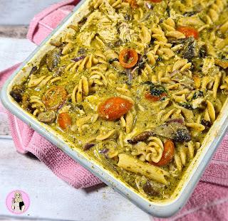 Pesto Chicken Pasta Tray Bake Recipe   Slimming Friendly