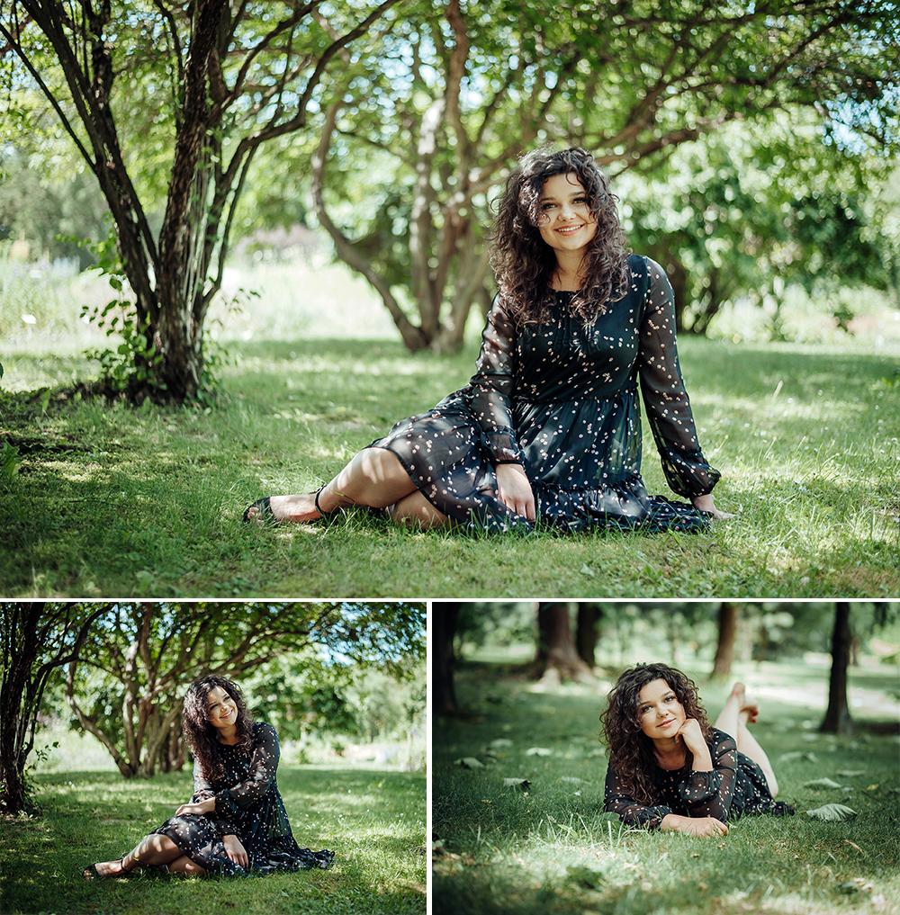 kobieta, ogród botaniczny, Lublin, fotograf, uśmiech